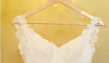 Ivory Size 8 Lace Fit & Flare Dress full