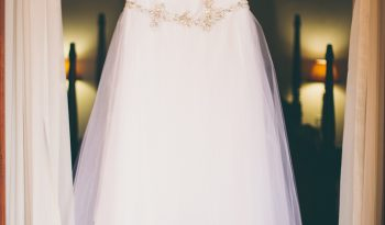 White Size 14 Tulle Fit & Flare Dress full