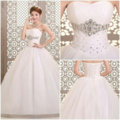White Size 22 Chiffon Ball Gown Sell Your Dress