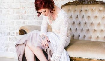 Ivory Size 6 Lace Mermaid Dress full