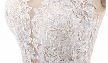 White Size 12 Lace A-Line Dress full