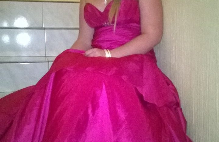 Pink Size 26 Satin Ball Gown full