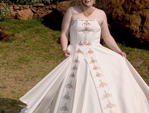 Ivory Size 16 Satin Ball Gown full