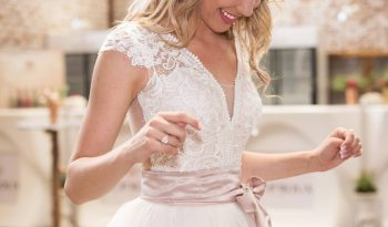 Pink Size 12 Lace Ball Gown full