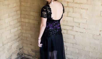 Black Size 12 Lace Fit & Flare Dress full