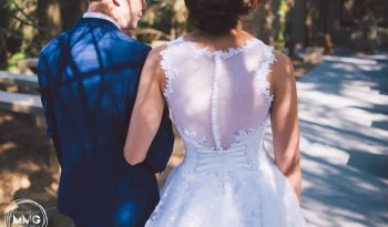 White Size 10 Lace Ball Gown full