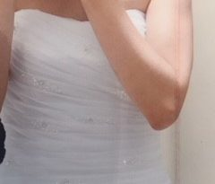 White Size 10 Organza Mermaid Dress full