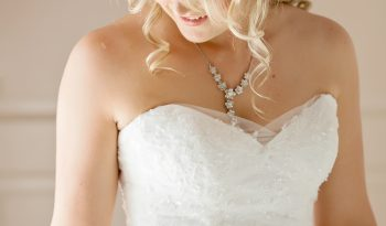 White Size 8 Lace Ball Gown full