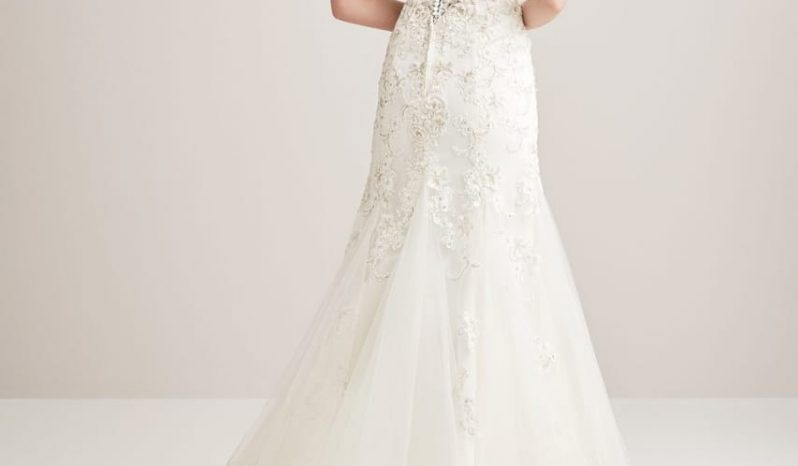 White Size 14 Lace Ball Gown full